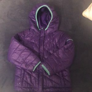 Girls 4T Columbia hooded puffer jacket